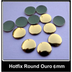 Metal Hotfix - 500 unidades - 6mm - Round Ouro